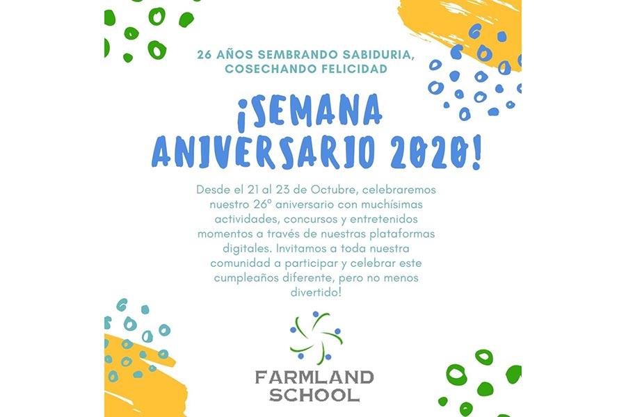 Afiche Aniversario 2020 Farmland School
